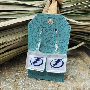 Tampa Bay Lightning Earrings NHL Hockey Stamkos